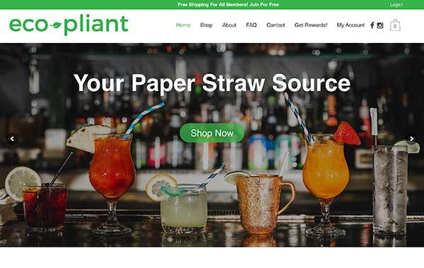 eco-pliant paper straws
