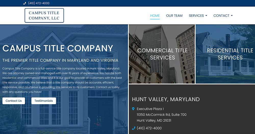 Campus Title Company Website