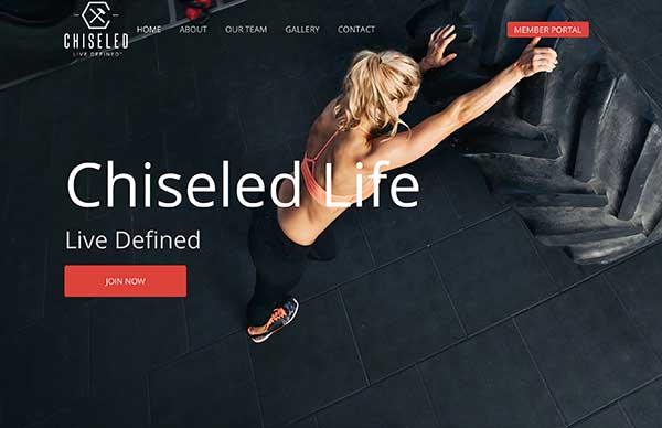 Chiseled Life Gym Website