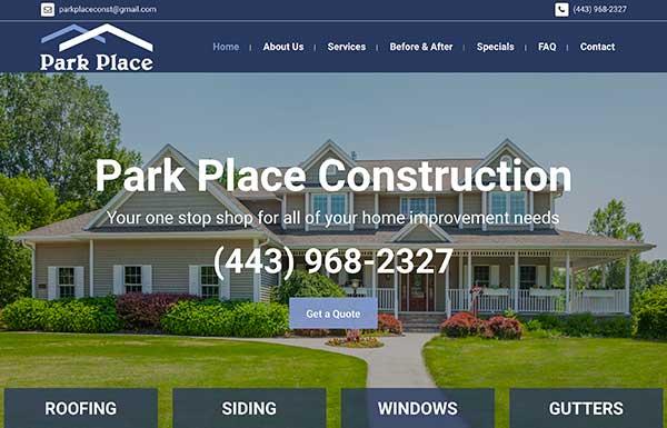 Park Place Construction Website