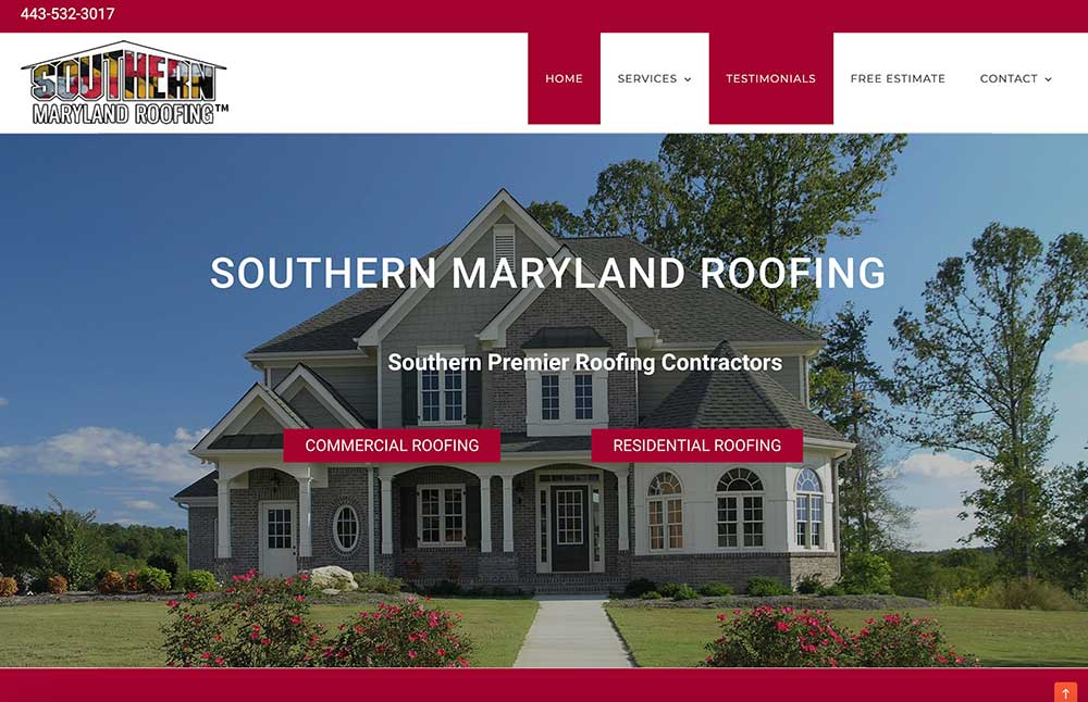 Southern Maryland Roofing Website